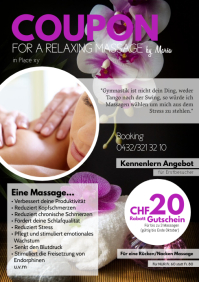 Massage Special Offer Coupon Vaucher Deal Ad