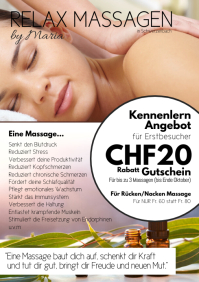 Massage special offer vaucher coupon discount