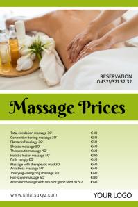 Massage Studio Price List offer treatments ad
