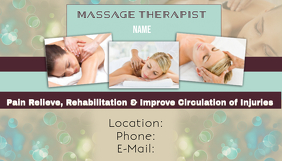 Massage Therapy Business Card template