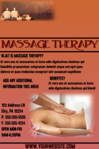 120 customizable design templates for massage postermywall