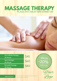 Massage Therapy Studio Treatement Relax Spa A4 template