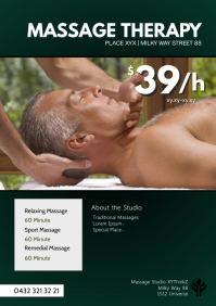 Massage Therapy Treatement studio health ad