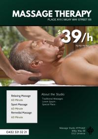 Massage Therapy Treatement studio health ad