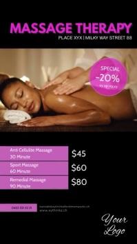 Massage Therapy Treatement therapist beauty Historia de Instagram template