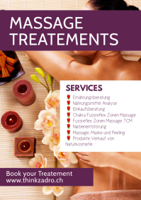 Massage Treatement Therapy Services Flyer Ad