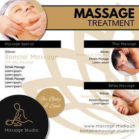 Massage Treatment Beauty Studio Salon Advert