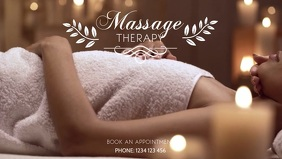 Massage Treatment Therapy Beauty Studio Ad Video copertina Facebook (16:9) template