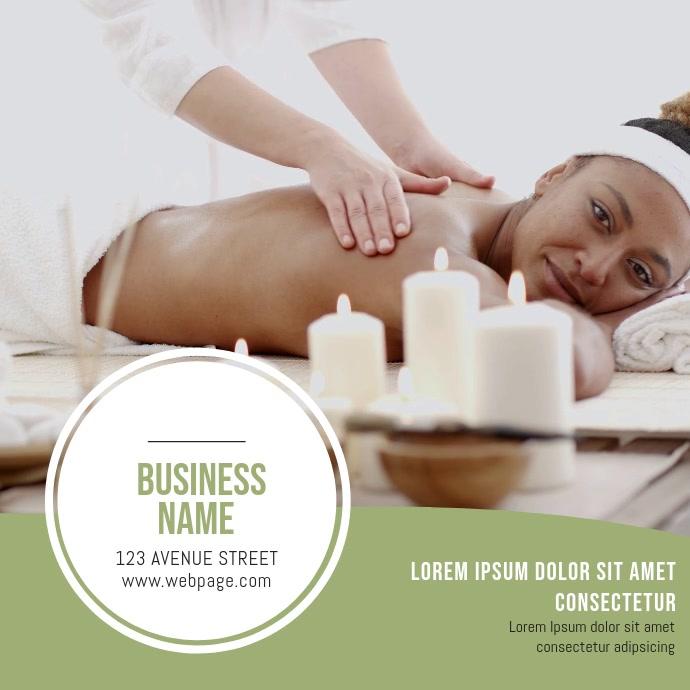 Massage Video Instagram Spa Salon Video Template