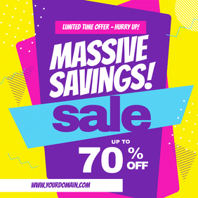 Massive Savings Sale Discount Retail Instagram Template