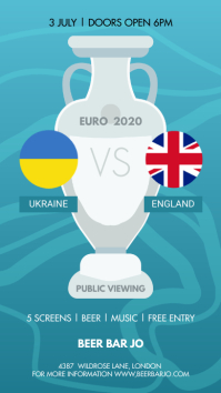 Match Schedule 1/4 euro 2020 Instagram 故事 template