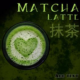 Matcha latte template