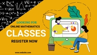 Math classes, online learning,school Blog Header template