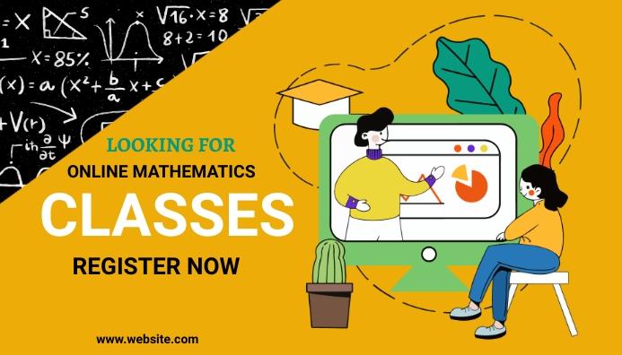 Math classes, online learning,school Blog Header template