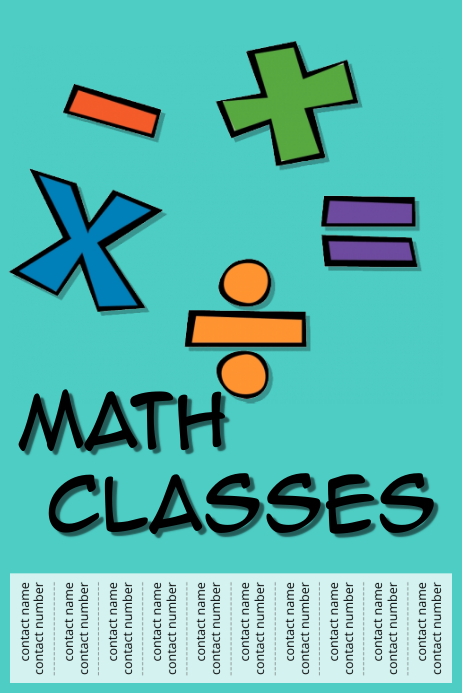 Math classes Template | PosterMyWall
