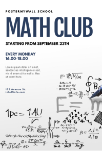 Math club flyer design template