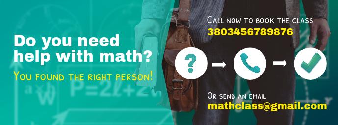 Math Tutor Facebook Cover Template
