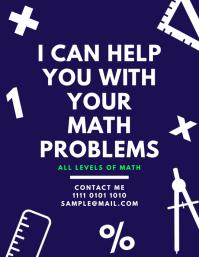 math tutoring lessons teaching flyer