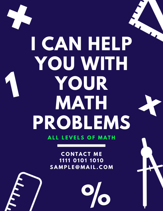 copy of math tutoring lessons teaching flyer