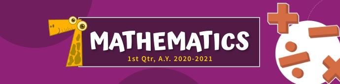 Mathematics Google Classroom Banner template