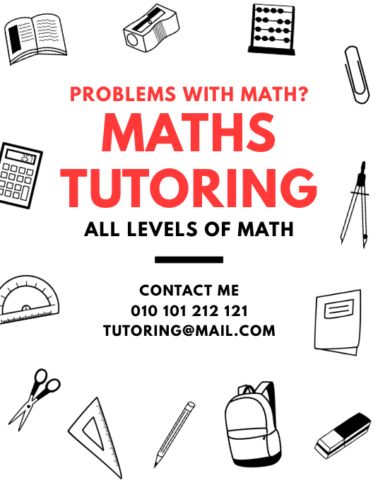 Maths Tutoring Lessons Flyer