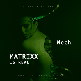 Matrix is Real CD Cover Art Template