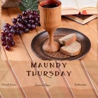 maundy thursday, holy thursday Instagram Post template