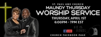 Maundy Thursday Worship Service Facebook Cover Photo template