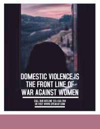 Mauve Domestic Violence Flyer