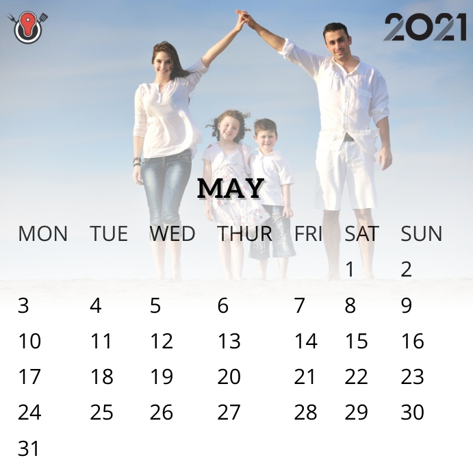 May 2021 calendar Instagram na Post template