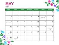 May 2021 Monthly Events Calendar Template Løbeseddel (US Letter)