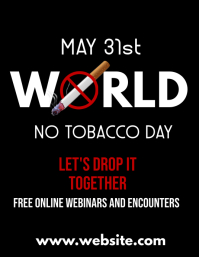 may 31st world no tobacco day free online web Pamflet (VSA Brief) template