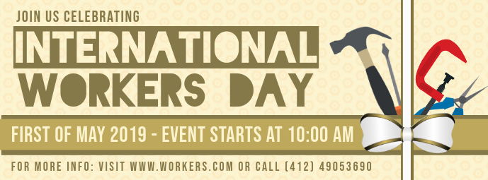 May Day Event Invitation Banner