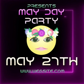 MAY DAY PARTY ad video digital Logo template