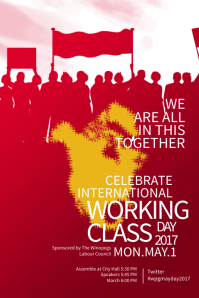 May Day Red Poster Template
