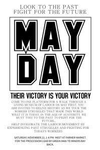 May Day Typography Flyer Template