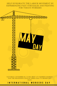 May Day Yellow Flyer Template