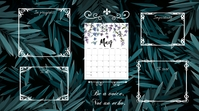 May desktop wallpaper Цифровой дисплей (16 : 9) template