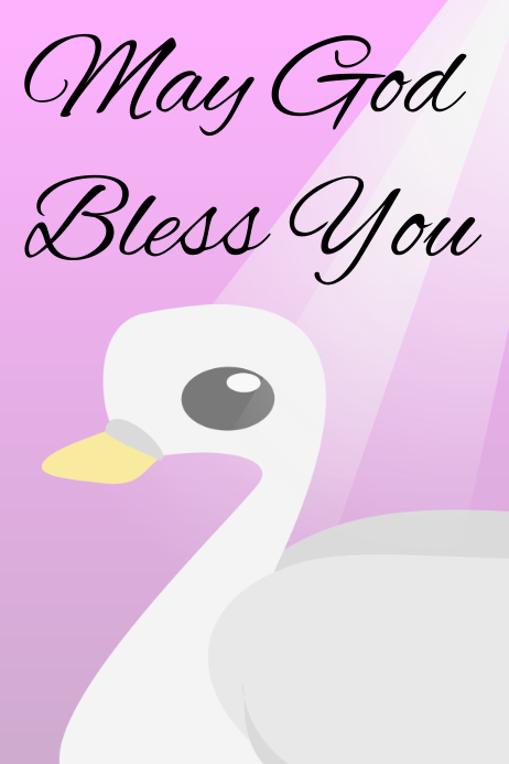 May God Bless You Template Postermywall