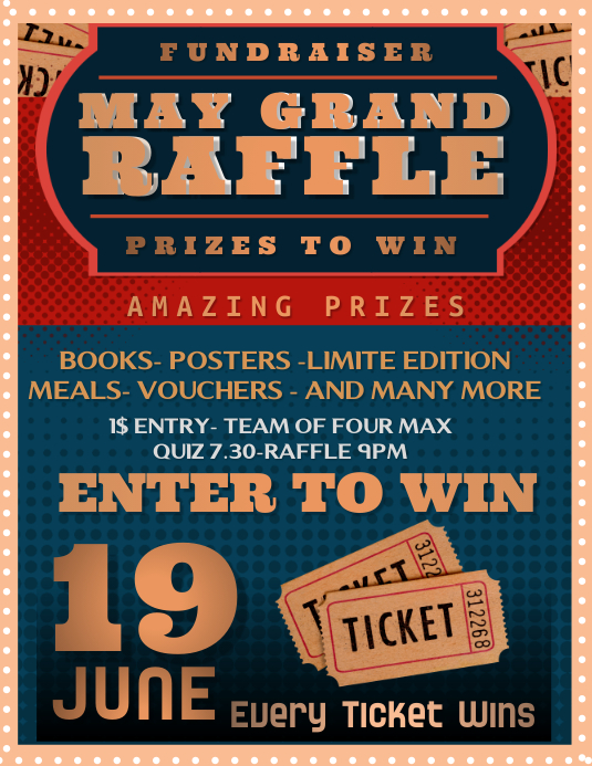 May Grand Raffle Flyer Template