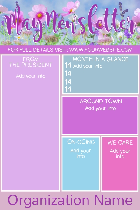 May Newsletter Poster template