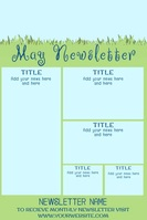 May Video Newsletter Spring Theme Poster template