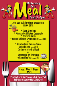 Meal Deal Menu Specials Iphosta template