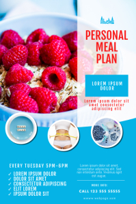 Meal plan diet weight loss flyer