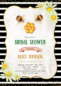 Meant to bee shower invitation