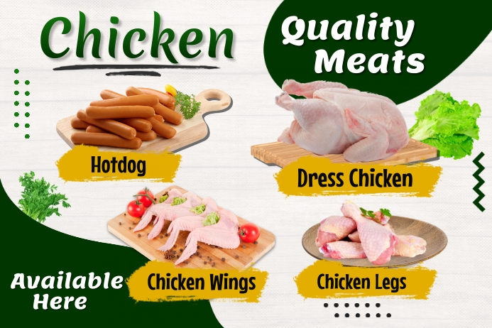 Meat Ads Label template