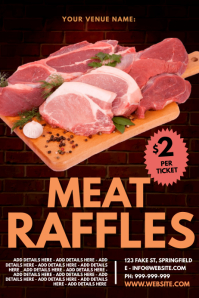 Meat Raffles Poster template
