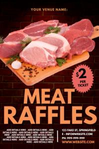 Meat Raffles Poster template