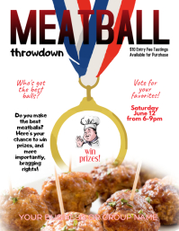 Meatball Cooking Contest throwdown Flyer