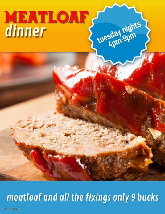 meatloaf dinner flyer